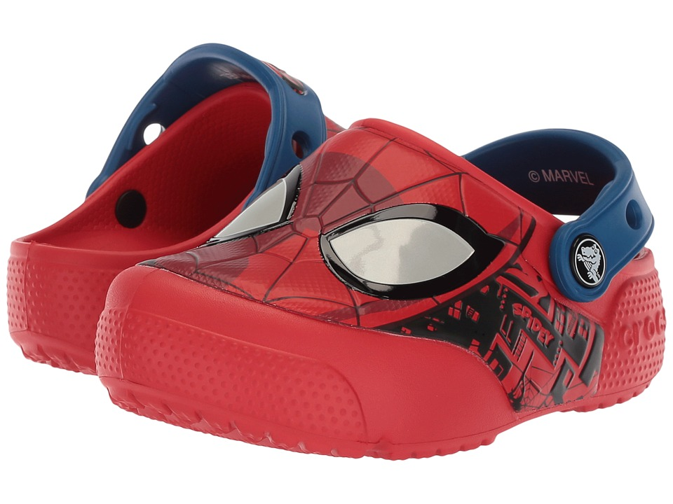 Crocs Kids - CrocsFunLab Lights Spider-Man (Toddler/Little Kid) (Flame) Boys Shoes