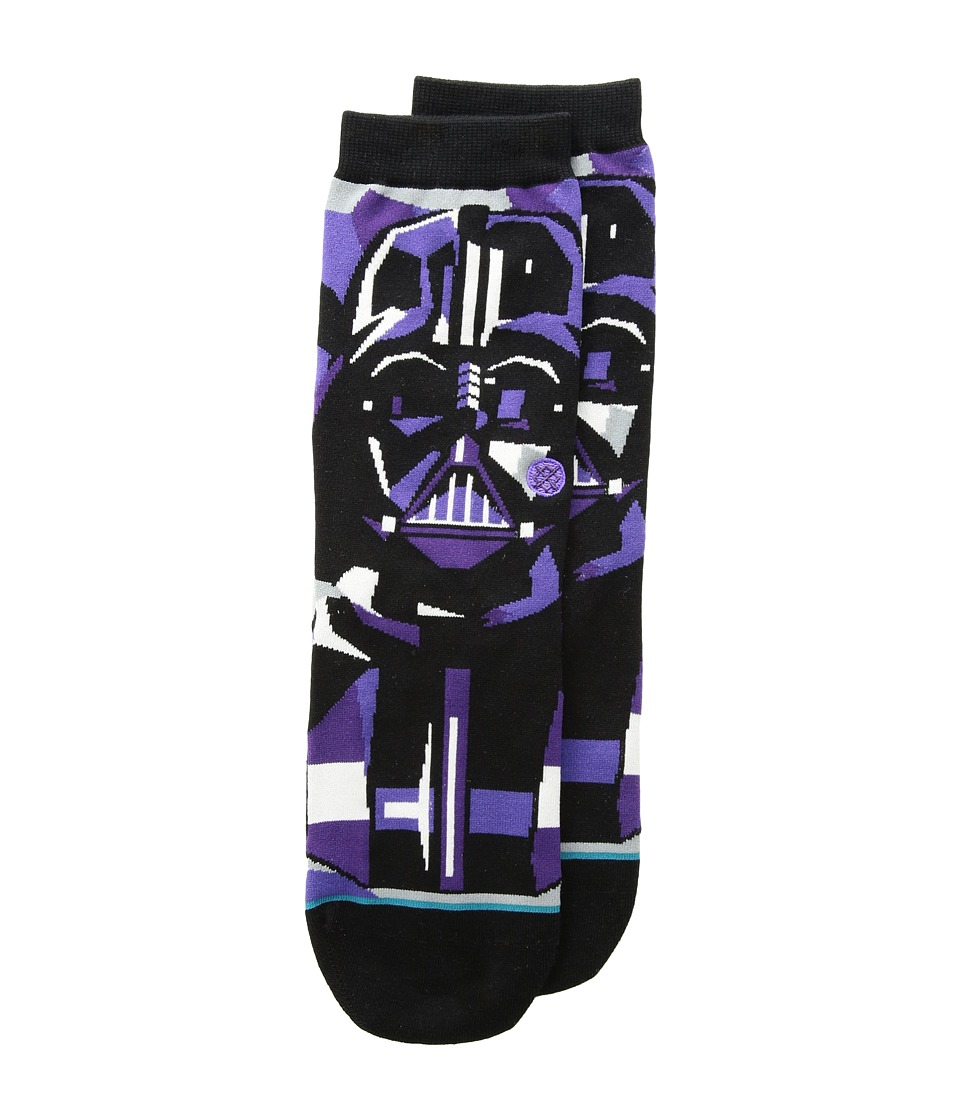 Stance - Vader Mosaic (Little Kid/Big Kid) (Black) Men's Crew Cut Socks Shoes