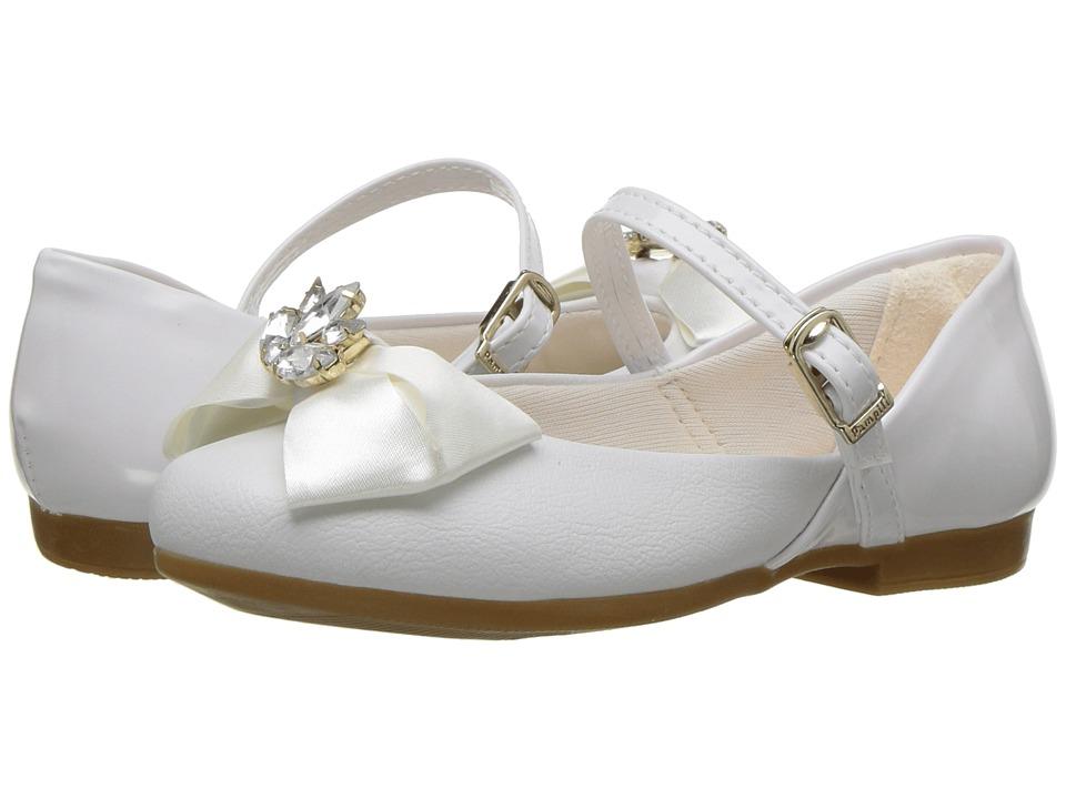 Pampili - 10337 (Little Kid/Big Kid) (White) Girls Shoes