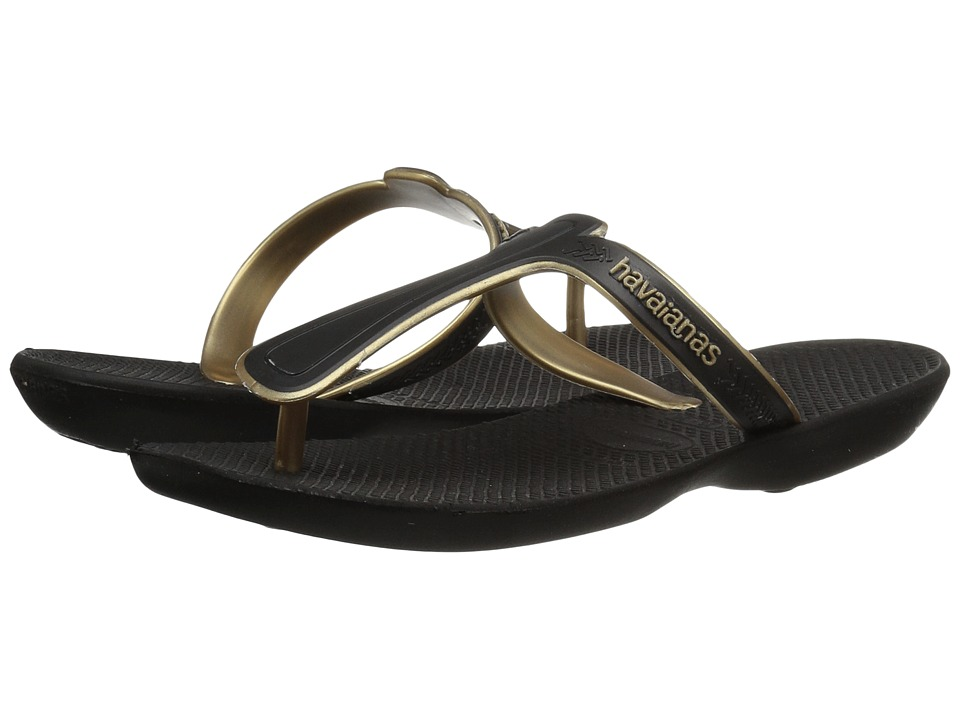 Havaianas - Casual Flip-Flops (Black) Womens Sandals