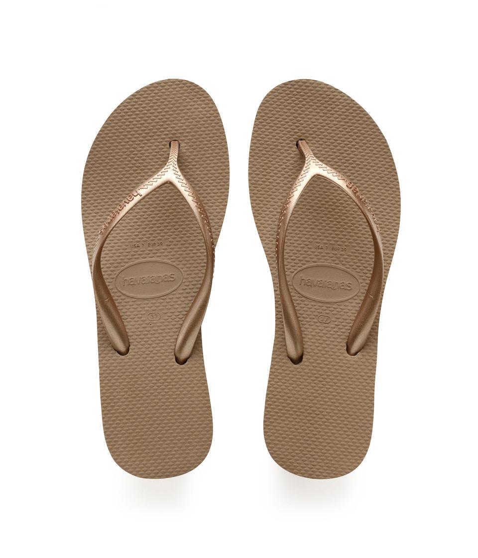 Havaianas - High Light Flip Flops (Rose Gold) Womens Sandals