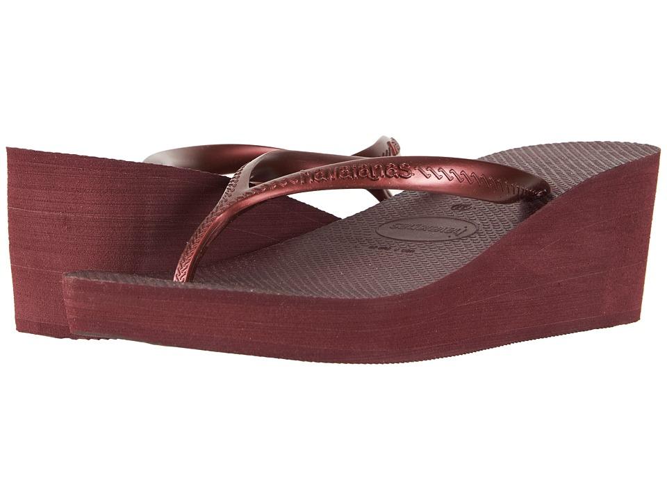 Havaianas - High Fashion Flip-Flops (Grape Wine) Womens Sandals