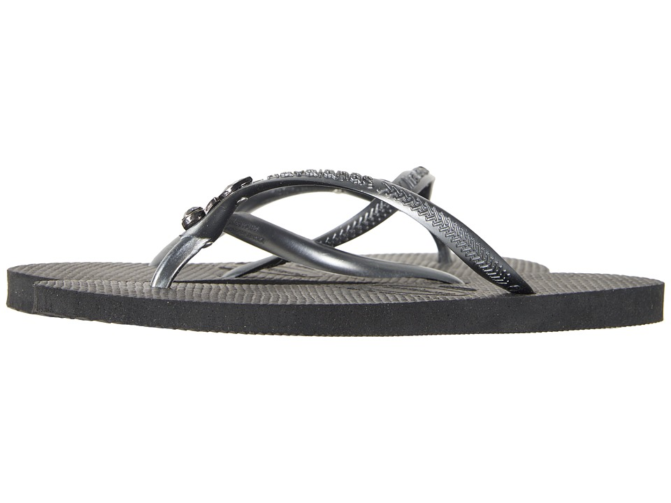 Havaianas - Slim Lux SW Flip Flops (Black/Black) Womens Sandals