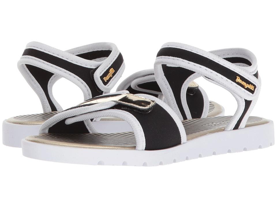 Pampili - 123047 (Little Kid/Big Kid) (Black/White) Girls Shoes