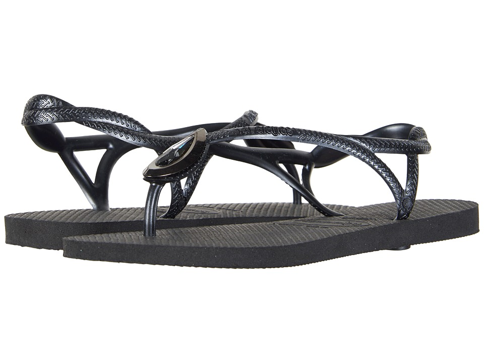 Havaianas - Luna Special Flip Flops (Black/Black) Women's Sandals