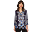Tribal Roll Up Sleeve Printed Blouse