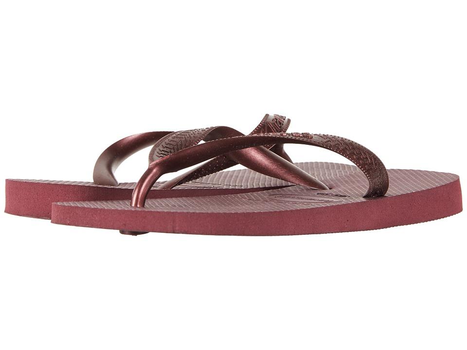Havaianas - Top Tiras Flip-Flops (Grape Wine) Womens Sandals