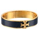 Tory Burch Raised Logo Thin Enamel Hinged Bracelet