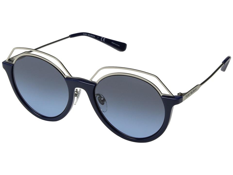 Tory Burch 0TY9052 51mm (Navy/Grey Blue Gradient) Fashion...