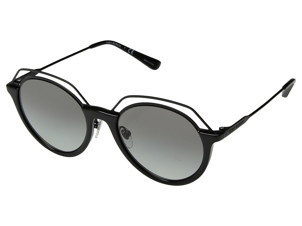Tory Burch 0TY9052 51mm (Black/Grey Gradient) Fashion Sun...