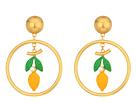 Tory Burch Lemon Hoop Earrings