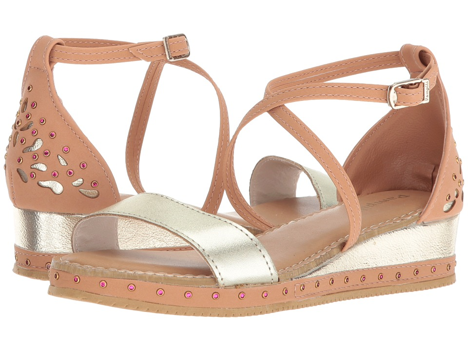 Pampili - 176020 (Little Kid/Big Kid) (Tan/Gold) Girls Shoes