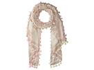 Tory Burch T Logo Oblong Scarf with Tassels