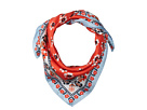 Tory Burch Stamped Floral Silk Neckerchief