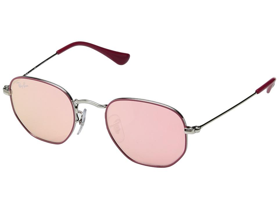 Ray-Ban Junior RJ9541SN 44 mm (Youth) (Fuchsia/Pink Flash) Fashion Sunglasses