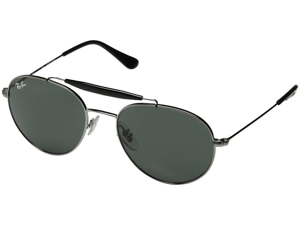 Ray-Ban Junior RJ9542S 50 mm (Youth) (Gunmetal/Green Classic) Fashion Sunglasses