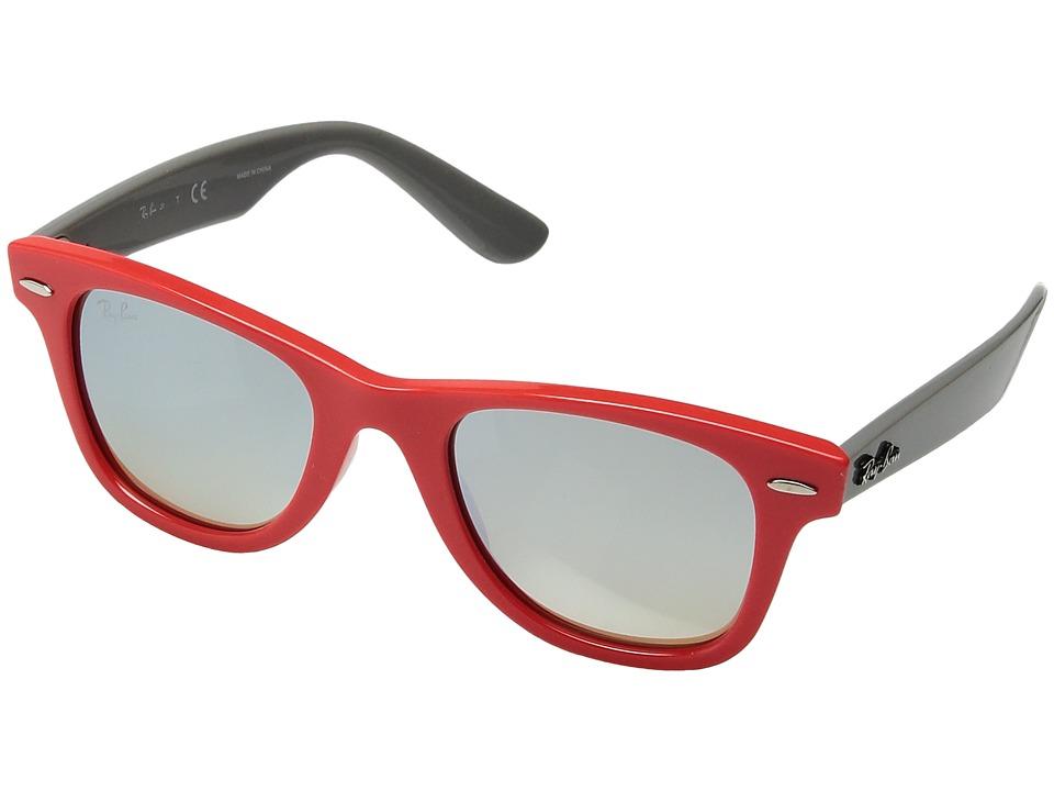Ray-Ban Junior RJ9066S 47 mm (Youth) (Coral/Silver Gradient Mirror) Fashion Sunglasses