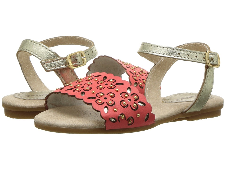 Pampili - 206116 (Toddler/Little Kid) (Coral/Gold) Girls Shoes