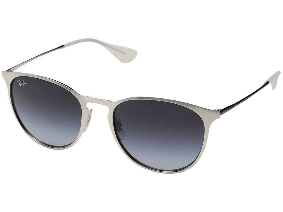 Ray-Ban 0RB3539 Erika Metal 54mm (Brushed Silver/Grey Gradient) Fashion Sunglasses