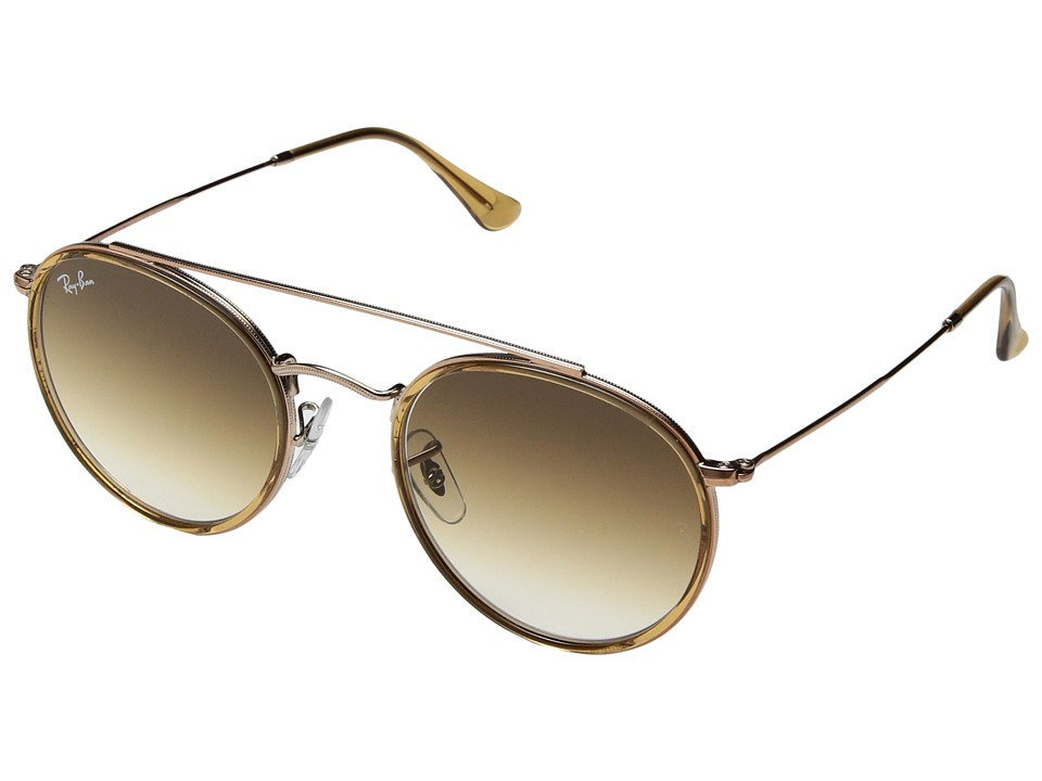 Ray-Ban 0RB3647N 51mm (Light Brown/Clear Gradient Brown) Fashion Sunglasses