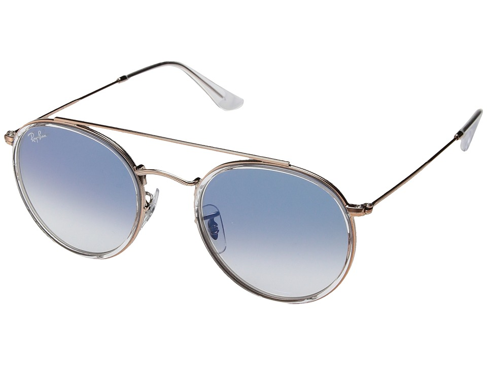Ray-Ban 0RB3647N 51mm (Transparent/Clear Gradient Blue) Fashion Sunglasses