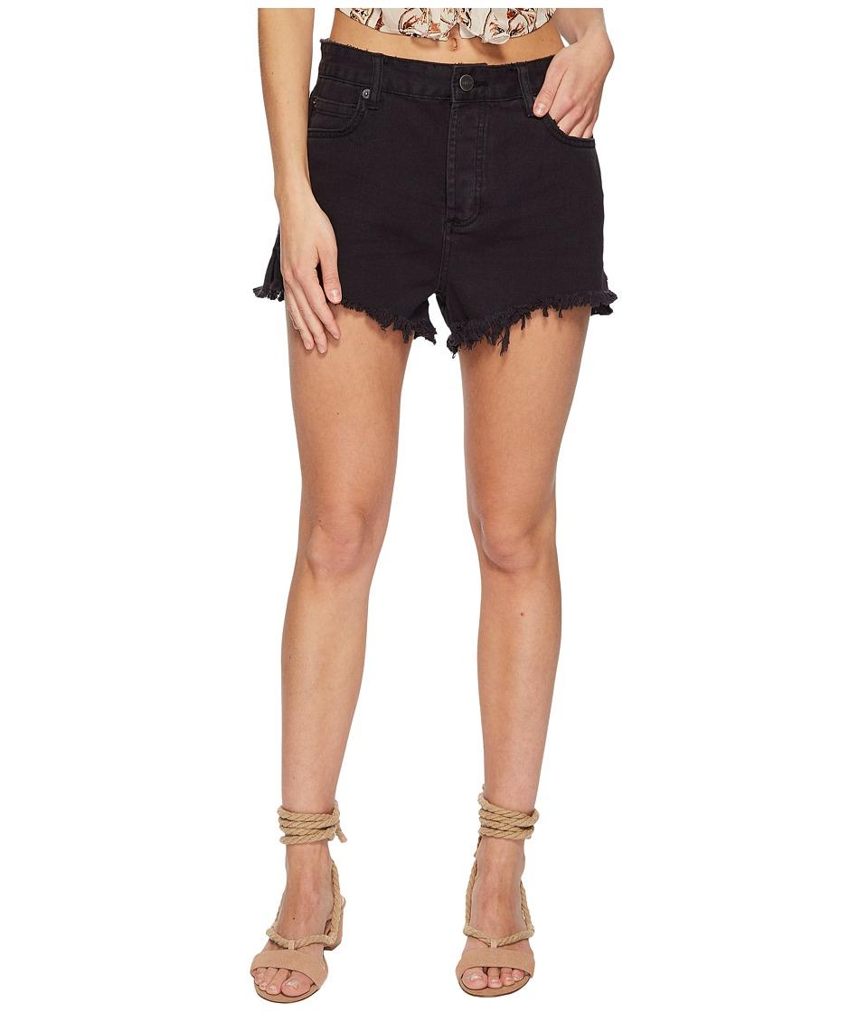 Amuse Society - Shoreline Denim Shorts (Black) Womens Shorts