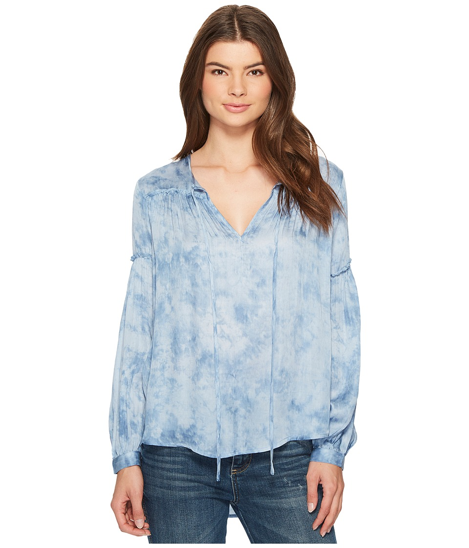 Amuse Society - Washed Out Woven Top (Indy Blue) Womens Clothing