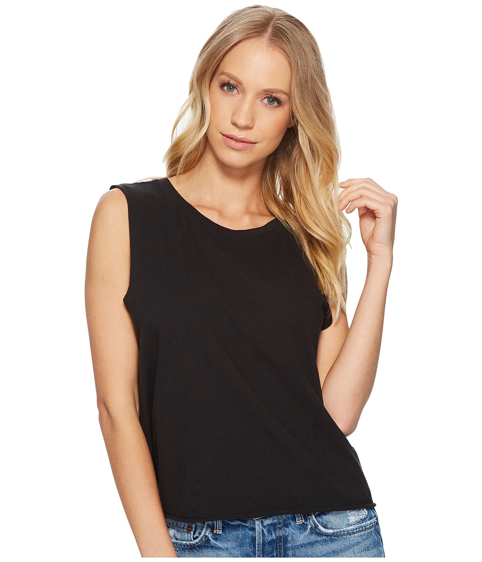 Amuse Society - Sandy Muscle Tank Top (Black) Womens Sleeveless