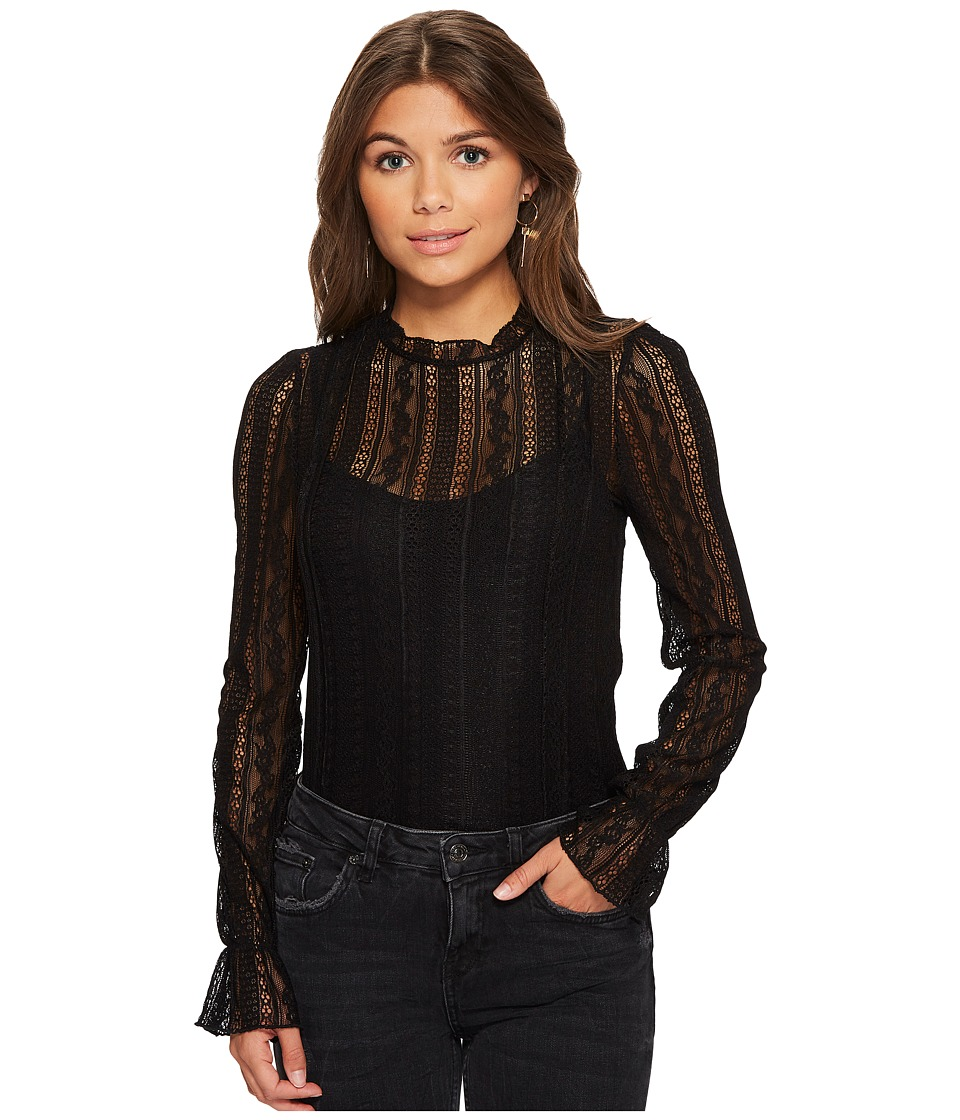 Amuse Society - All About That Lace Knit Top