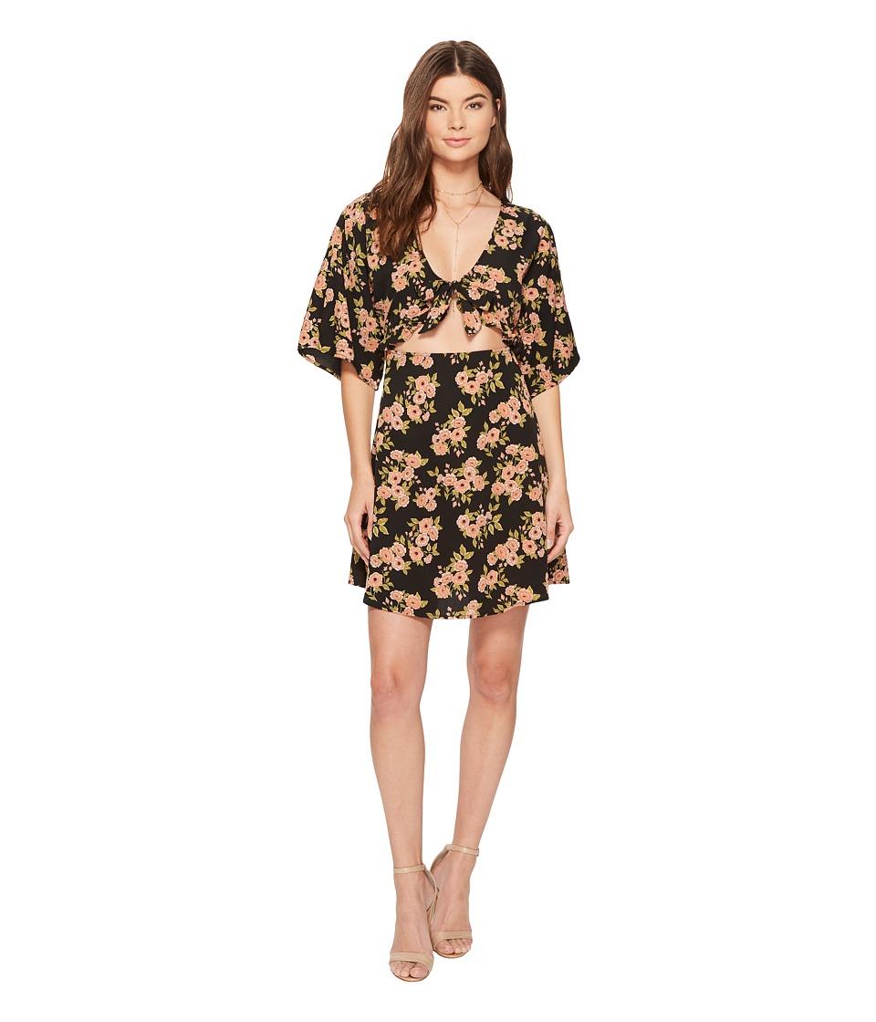 Amuse Society Floral Envy Dress (Black) Women