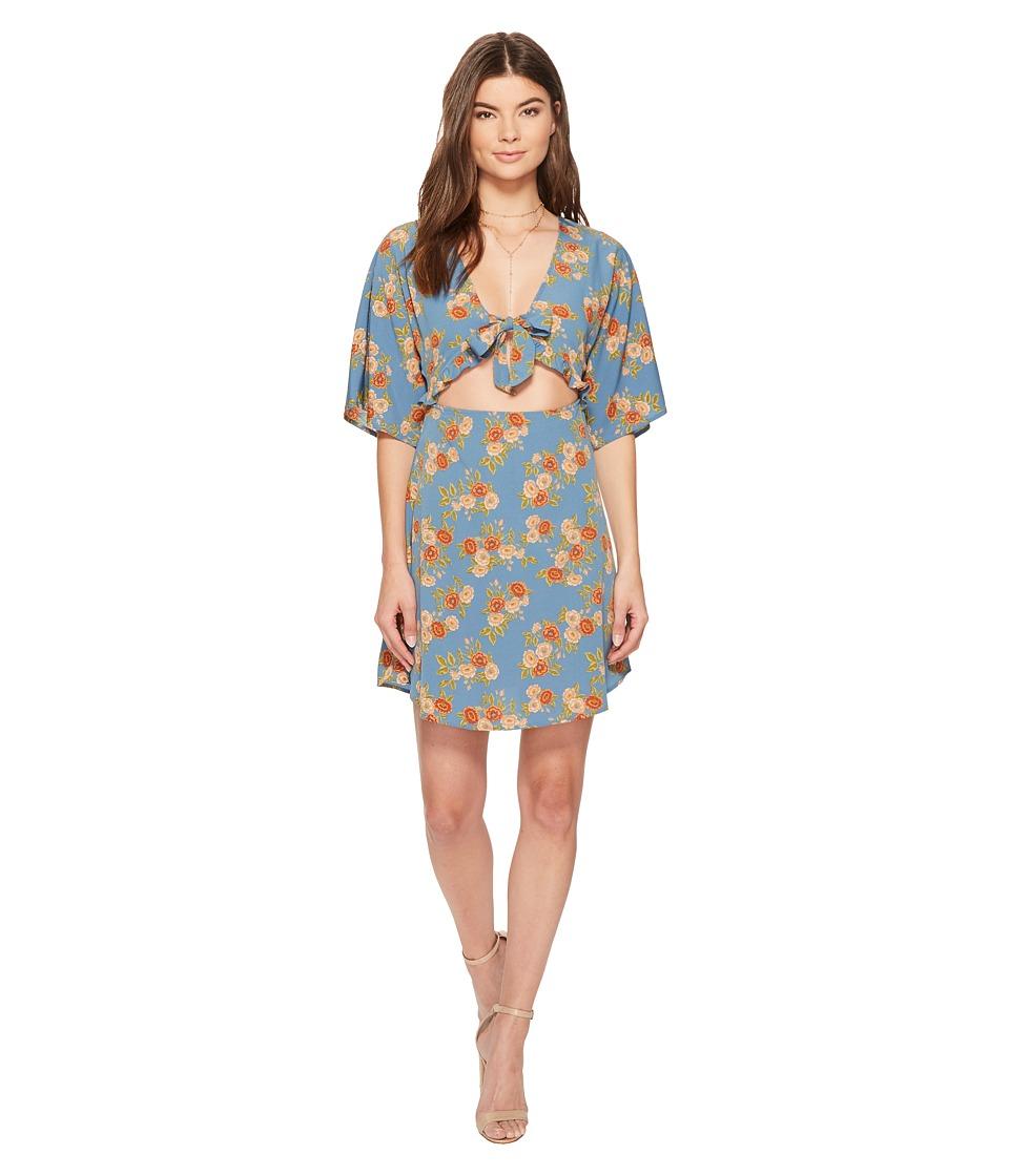 Amuse Society Floral Envy Dress (Indy Blue) Women