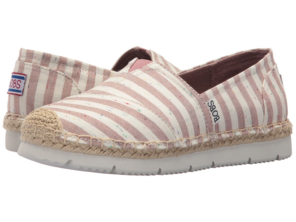 BOBS from SKECHERS Flexapadrille 2 Charter Party (Natural Red) Women