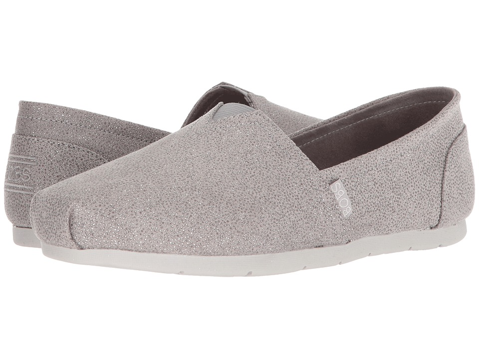 BOBS from SKECHERS Luxe Bobs Caviar And Candy (Light Gray) Women