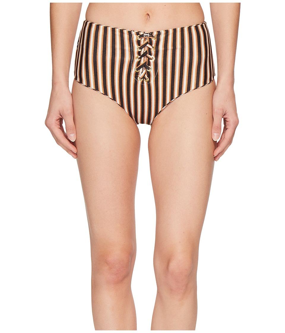 Amuse Society - Chantal High Waist Bottom (Bronze) Womens Swimwear