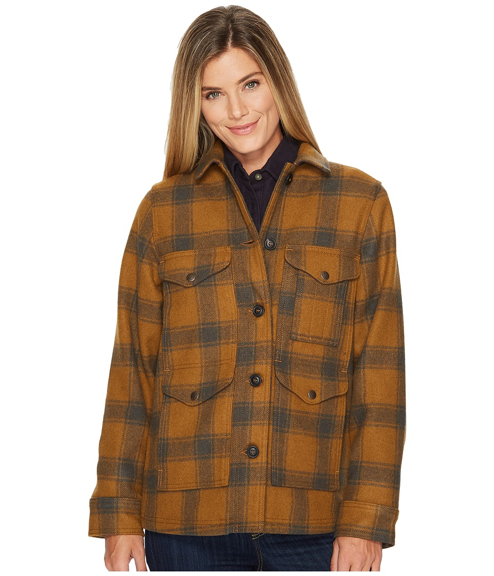 Vintage Coats & Jackets | Retro Coats and Jackets Filson Lined Seattle Cruiser Jacket CiderCharcoal Womens Coat $450.00 AT vintagedancer.com
