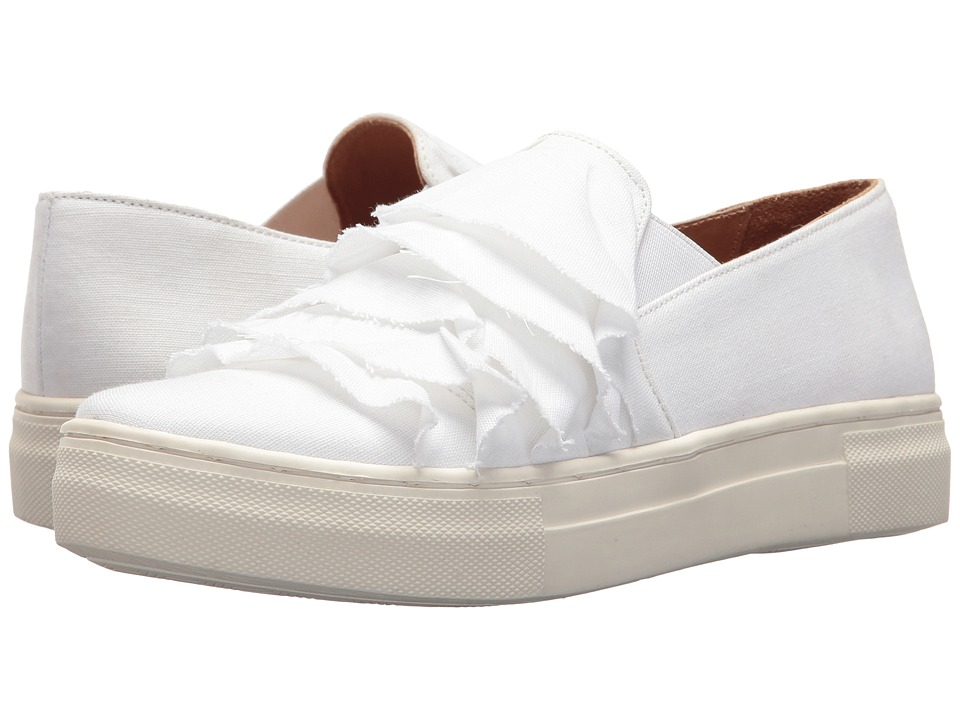 Seychelles Quake II (White Frayed Linen) Slip-On Shoes