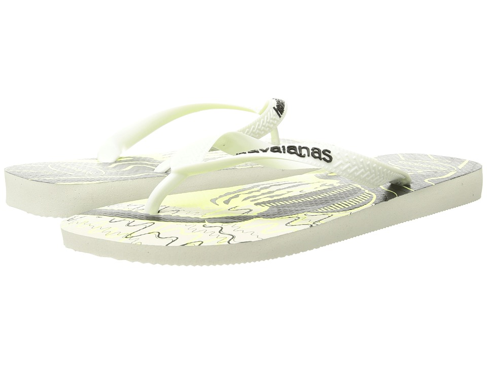 Havaianas - 4 Nite Flip Flops (White/Dark) Men's Sandals