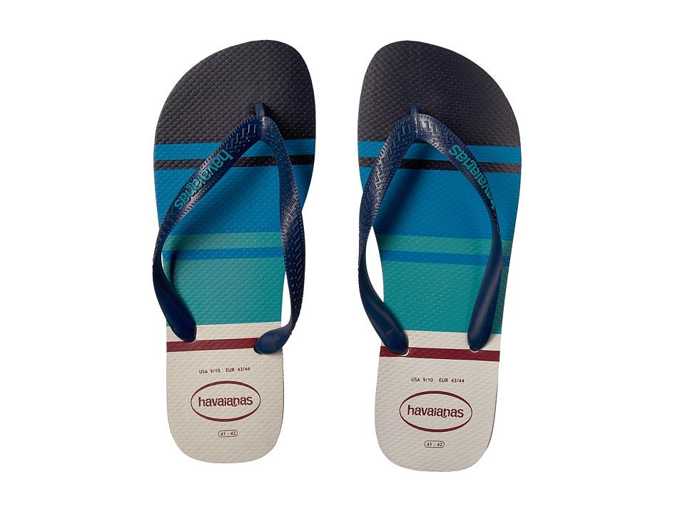 Havaianas - Top Nautical Flip-Flops (White) Mens Sandals