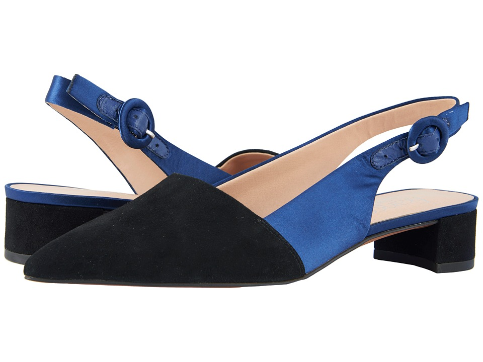 Franco Sarto - Vellez (Black/Navy) Womens 1-2 inch heel Shoes