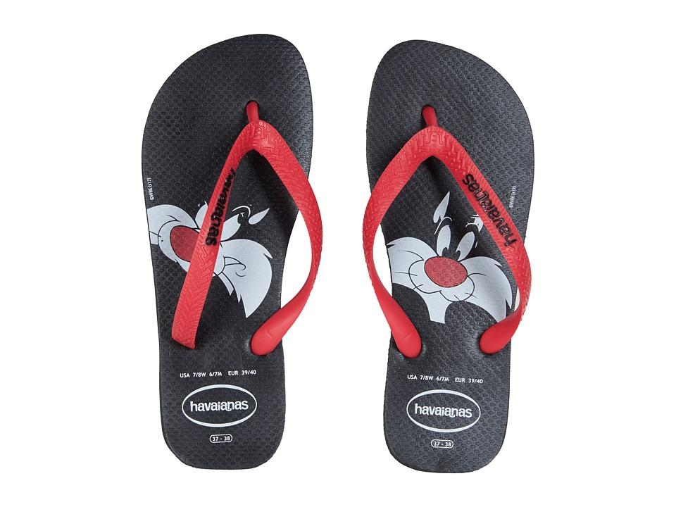 Havaianas - Looney Tunes Flip-Flops (Black/Red) Womens Sandals