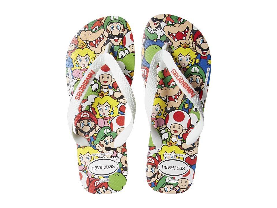 Havaianas - Mario Bros Flip-Flops (White) Womens Sandals