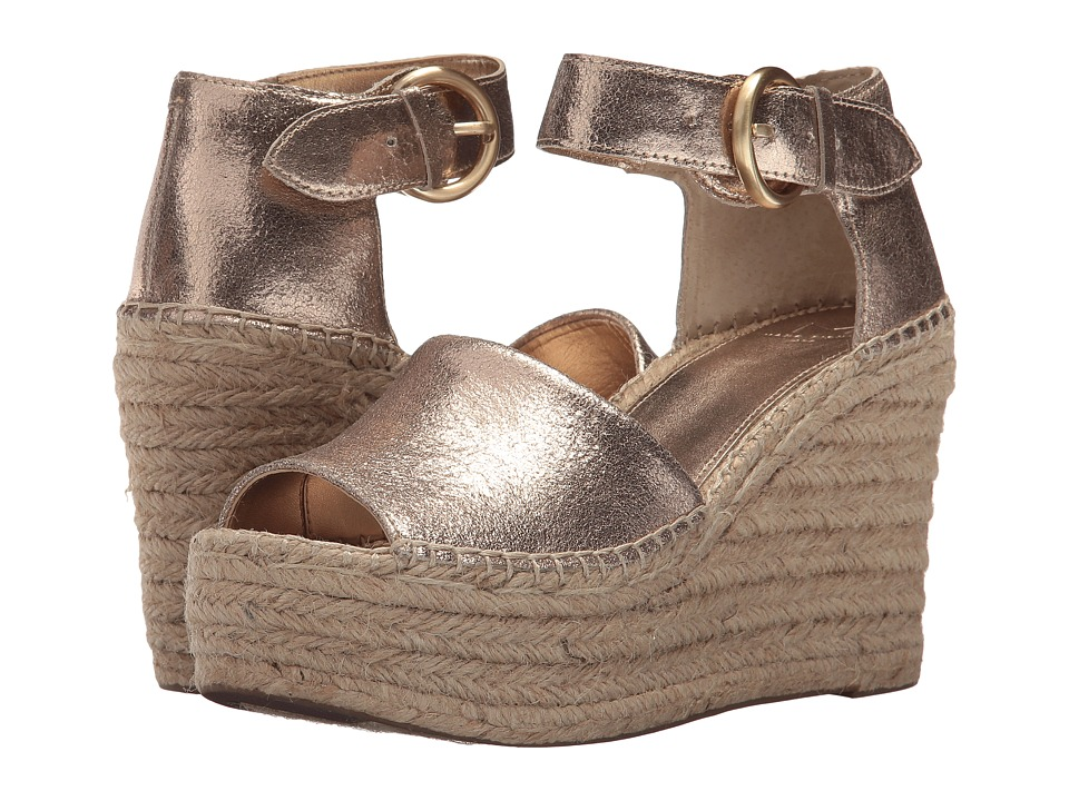 Marc Fisher LTD Alida Espadrille Wedge (Gold Suede) Women's Shoes
