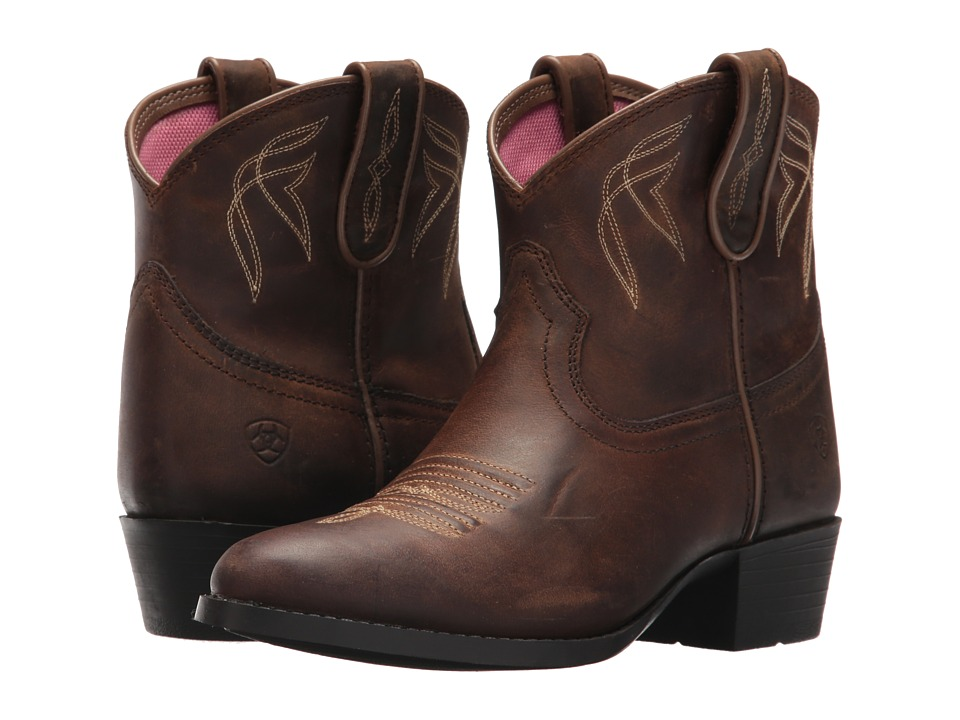 Image of Ariat Kids - Darlin (Toddler/Little Kid/Big Kid) (Distressed Brown) Cowboy Boots
