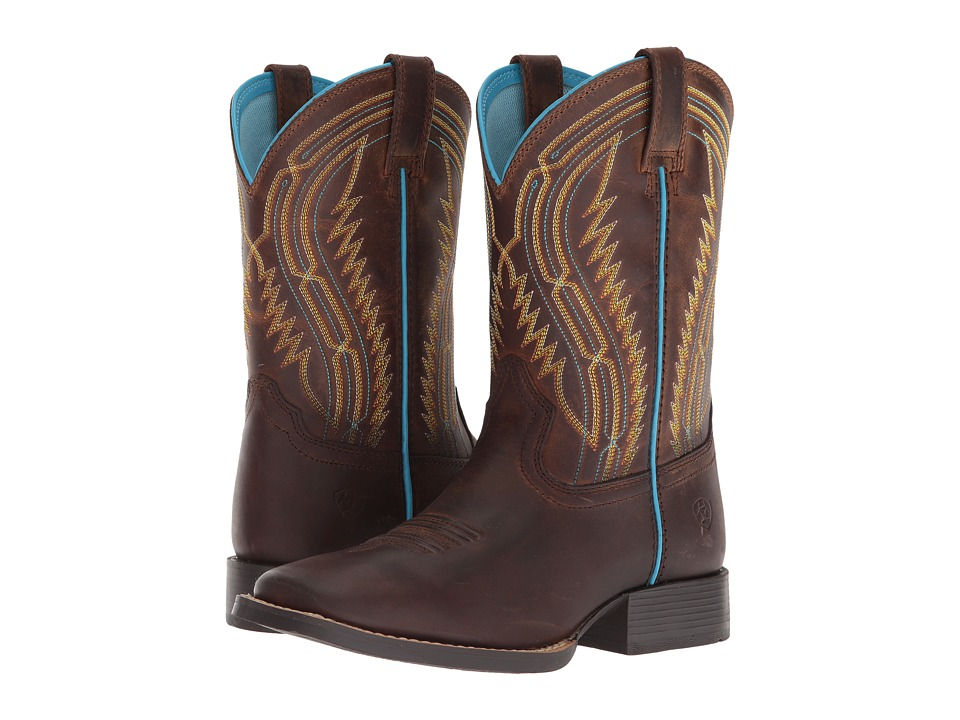 Image of Ariat Kids - Chute Boss (Toddler/Little Kid/Big Kid) (Distressed Brown) Cowboy Boots