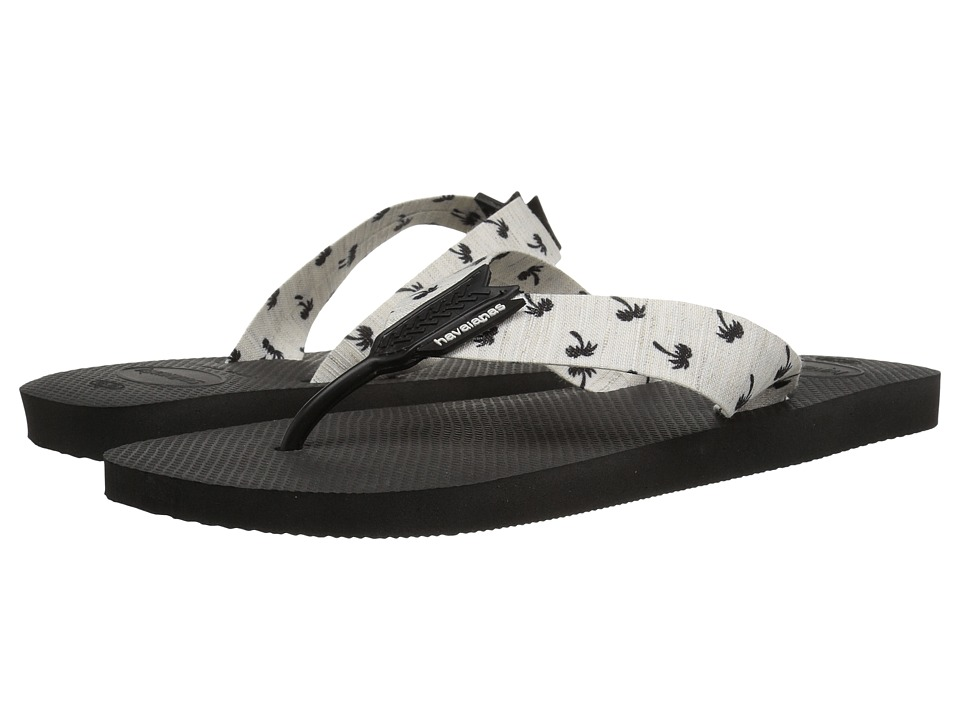Havaianas Urban Series Flip Flops (Black/White) Men's Sandals