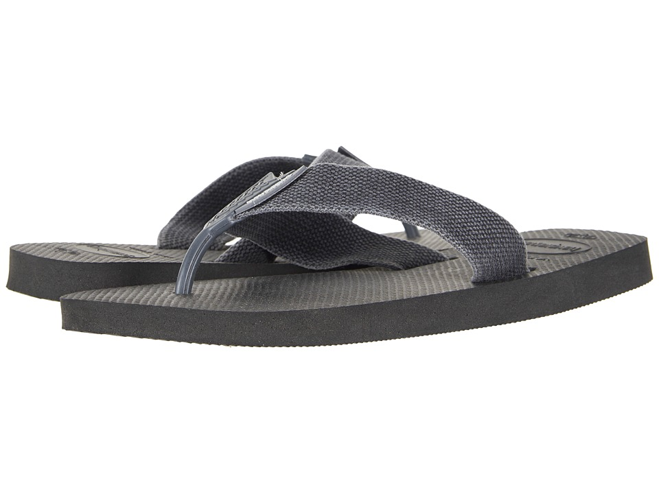 Havaianas - Urban Basic Flip Flops (Black/Grey) Mens Sandals