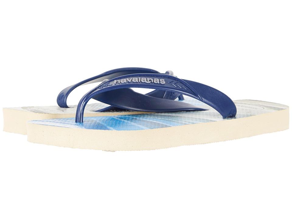 Havaianas - Surf Flip-Flops (Beige/Blue Navy) Mens Sandals