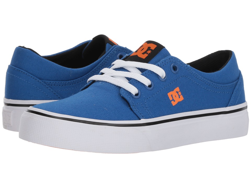 DC Kids - Trase TX (Little Kid/Big Kid) (Blue/White/Orange) Boys Shoes