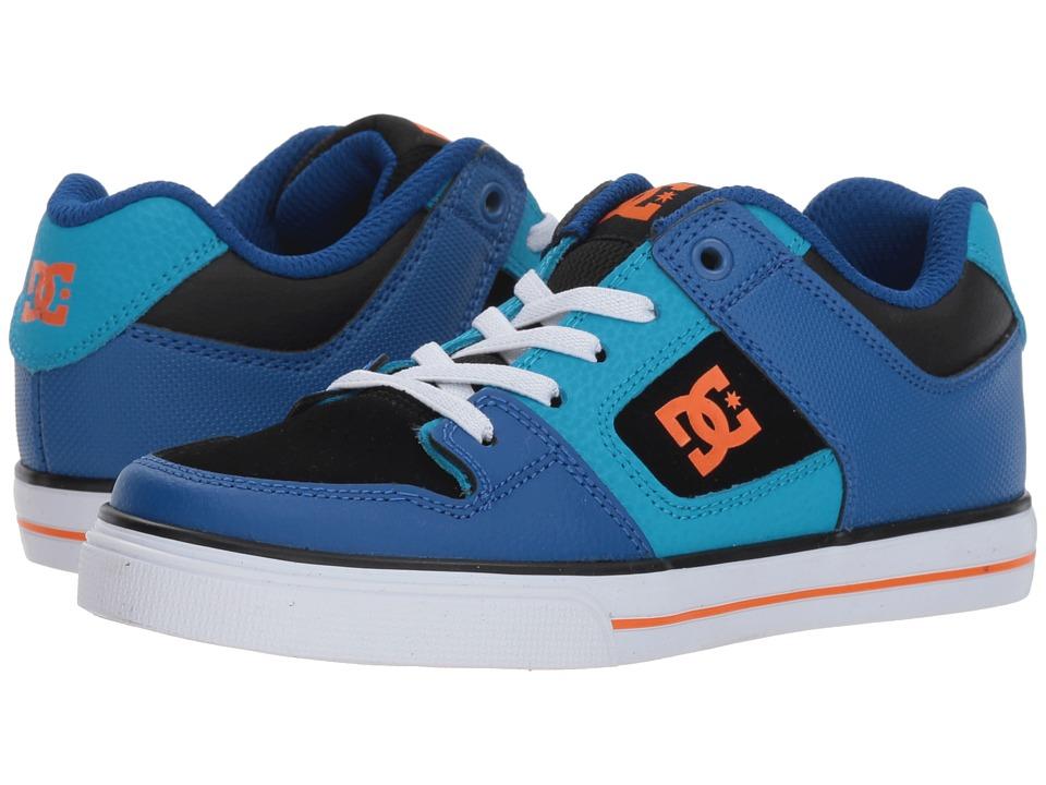 DC Kids - Pure Elastic (Little Kid/Big Kid) (Blue/Blue/Orange) Boys Shoes