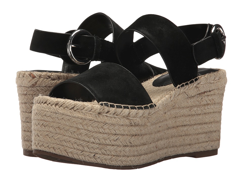 Marc Fisher LTD Renni Espadrille Platform Wedge (Black Multi Suede) Women